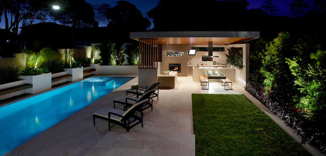 Contemporary Patio by Dean Herald-Rolling Stone Landscapes