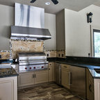 Outdoor Ligth Brown Concrete Kitchen Countertops - Traditional - Patio - New York - by Trueform ...