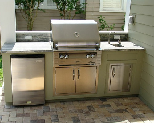 Best small outdoor kitchen design ideas remodel pictures for Plans for outside kitchen