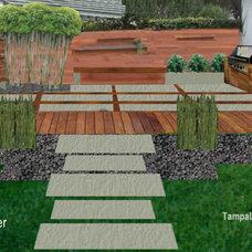 Modern Patio by Tampa Landscape Design