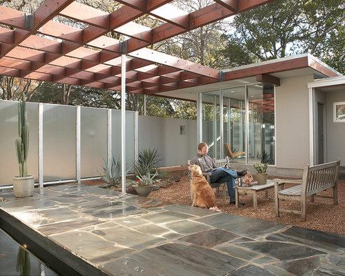Mid Century Modern Patio Design Ideas & Remodel Pictures ... on Mid Century Patio Design id=26208
