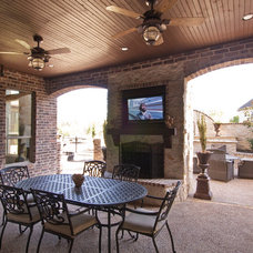 Traditional Patio by Tatum Building Corp