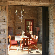 Traditional Patio by Taylor Lombardo Architects