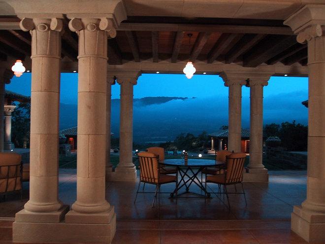 Mediterranean Patio by Taylor Lombardo Architects