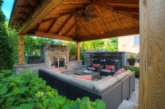 Traditional Patio by Cedar Springs Landscape Group