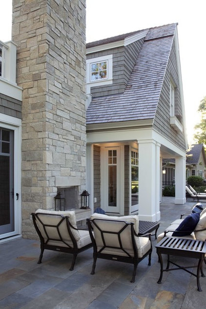 Traditional Patio by Charlie & Co. Design, Ltd
