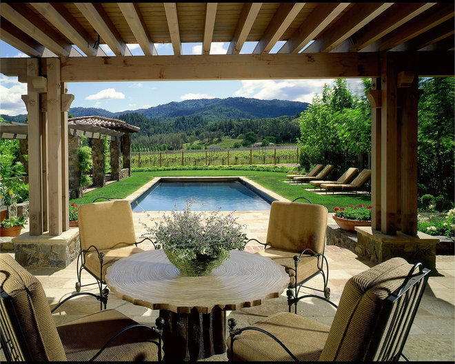 Rustic Patio by Saint Dizier Design