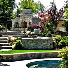 Traditional Patio by Earthline Design Landscape Architecture