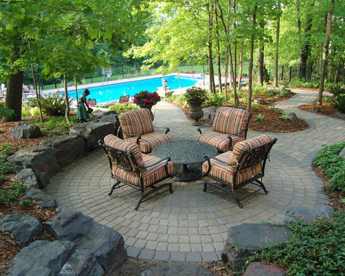 Example Of A Classic Concrete Paver Patio Design In Minneapolis