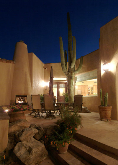 Southwestern Patio by Soloway Designs Inc   Architecture + Interiors AIA