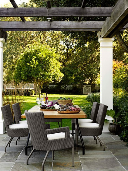 Contemporary Patio by McGuire Furniture Company