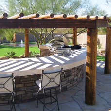 Traditional Patio by Merit Landworks