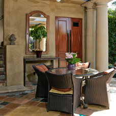 Mediterranean Patio by Van-Martin Rowe