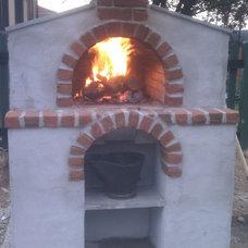 Mediterranean Patio by BrickWood Ovens