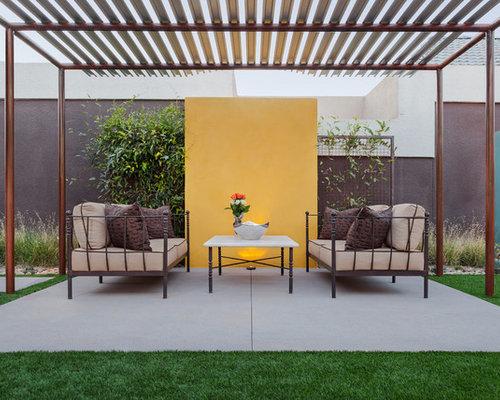modern patio design ideas, remodels & photos with a pergola   houzz - Modern Patio Design