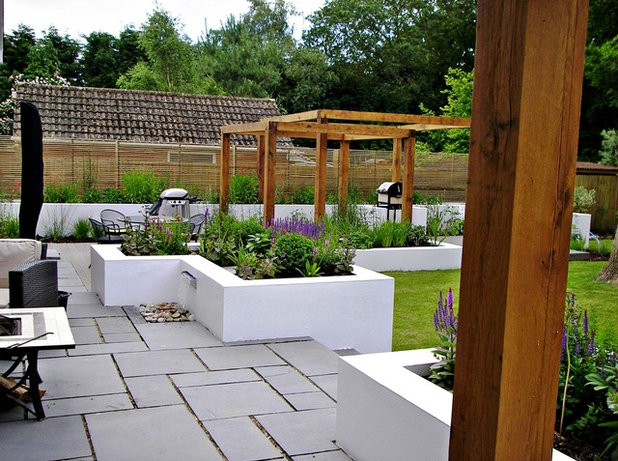 Contemporary Patio by Landscape Design by James Brunton-Smith Limited