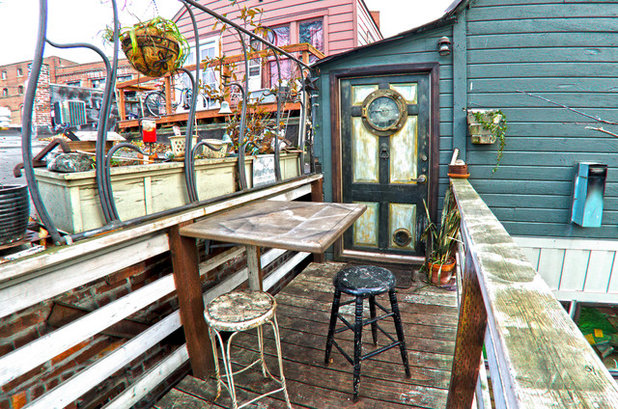 Eclectic Patio by Louise Lakier