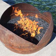 Modern Fire Pits by John T. Unger Sculptural Firebowls