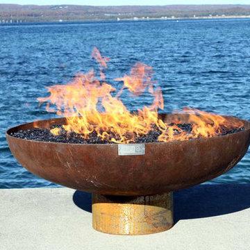 The Font O' Fire 30 inch Sculptural Firebowl