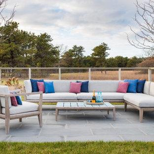 Patio - cottage patio idea in Boston with no cover