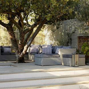 Design ideas for a contemporary patio in London with no cover.