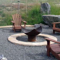 Contemporary Firepits by John T. Unger, LLC