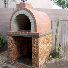Traditional Patio by BrickWood Ovens