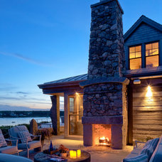 Rustic Patio by Hutker Architects