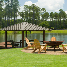 Traditional Patio by Shoreline Construction and Development