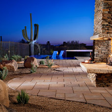 Mediterranean Patio by Dove Mountain Homes