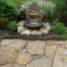 Eclectic Patio by Gardens by Jeffrey Bale