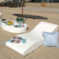 The Surf Chaise Lounge - The Surf outdoor chaise lounge.