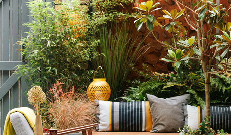 Garden Tour: A Small City Garden With Rich Rust Accents