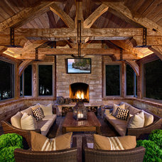 Traditional Patio by Mitch Wise Design,Inc.