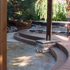 Modern Patio by Chuck B. Edwards - Breckon Land Design