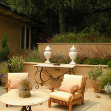 Mediterranean Patio by O'Connell Landscape