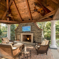 Traditional Patio by Hugh Lofting Timber Framing, Inc.