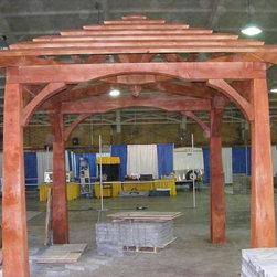Timber Framed Structures, Arbors, Trellises, Pergolas, Trelisses in NYC, NJ, CT - Timber Framed Pavilion