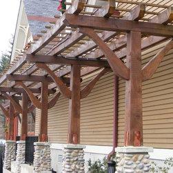 Timber Framed Structures, Arbors, Trellises, Pergolas, Trelisses in NYC, NJ, CT - Timber Framed Trellis