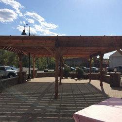Timber Framed Structures, Arbors, Trellises, Pergolas, Trelisses in NYC, NJ, CT - Post & Beam Trellis / Arbor