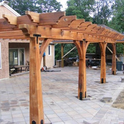 Timber Framed Structures, Arbors, Trellises, Pergolas, Trelisses in NYC, NJ, CT - Timber Framed Trellis / Arbor