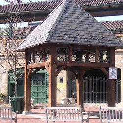 Timber Framed Structures, Arbors, Trellises, Pergolas, Trelisses in NYC, NJ, CT - Post & Beam Pavilion - Timber Framed