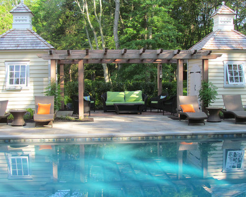 Poolside Pergola | Houzz