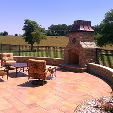 Traditional Patio by Indian Summer Pool and Spa
