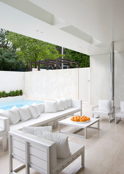 Moderno Patio by Rob Mills Architecture & Interiors