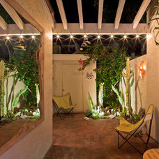 Mediterranean Patio by Jon+Aud Design