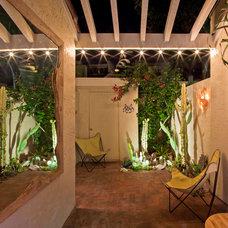 Mediterranean Patio by Jon+Aud Design