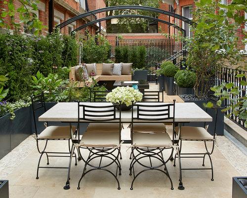 Pvc Garden Furniture Pvc garden arch houzz elegant courtyard tile patio photo in london workwithnaturefo