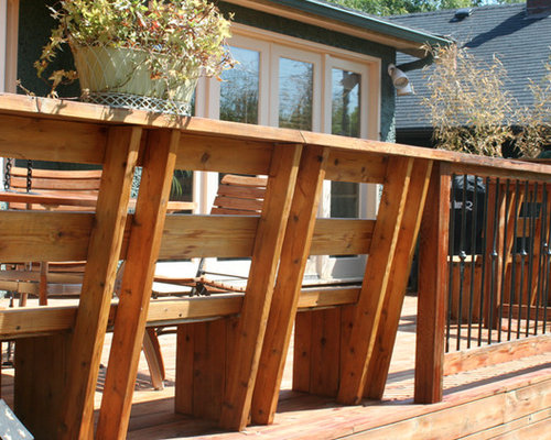 Cedar Deck Bench Home Design Ideas Pictures Remodel And