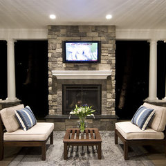 traditional patio by dC Fine Homes & Interiors